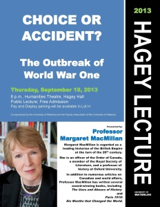 2013 Hagey Lecture Poster