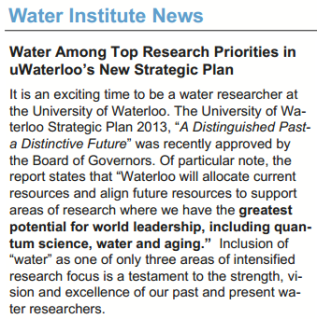 Water Institute Newsletter