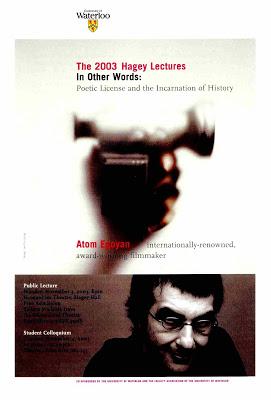 Atom Egoyan Hagey Lecture Poster
