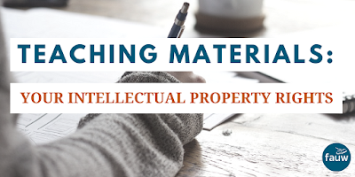 Teaching materials: your intellectual property rights