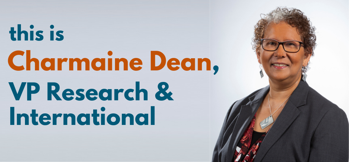 Charmaine Dean, VP Research and International