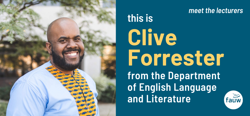 Clive Forrester from the Department of English Language and Literature
